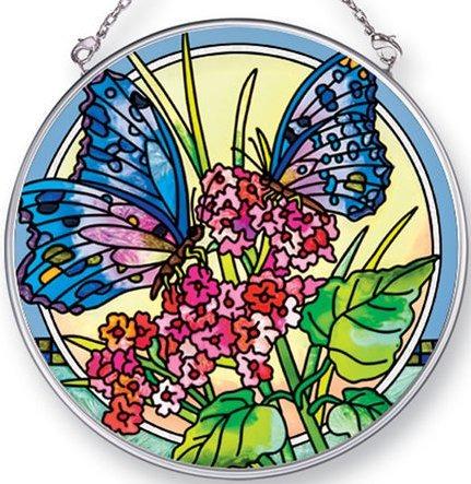 Amia 42442 Butterfly Dance Medium Circle Suncatcher