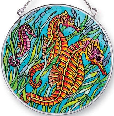 Amia 42444 Seahorses Medium Circle Suncatcher