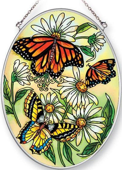 Amia 42467 Three Butterflies Medium Oval Suncatcher