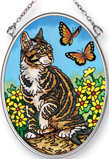 Amia 42482 Butterfly Kisses Small Oval Suncatcher