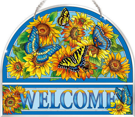 Amia 42502 Color On The Prairie Beveled Welcome Panel