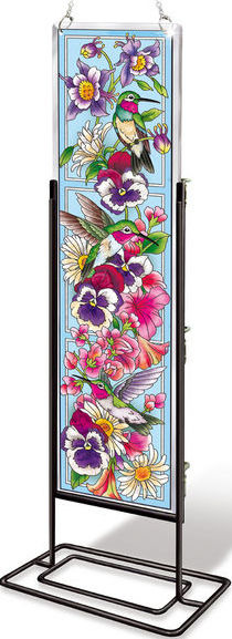 Amia 42523 Hummingbirds Alight Beveled Panel