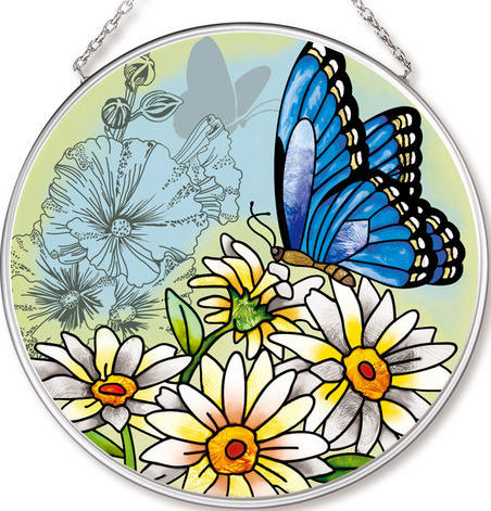 Amia 42532 Butterfly Garden in Bloom Medium Circle Suncatcher