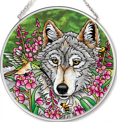 Amia 42534 Summer Wolf Medium Circle Suncatcher