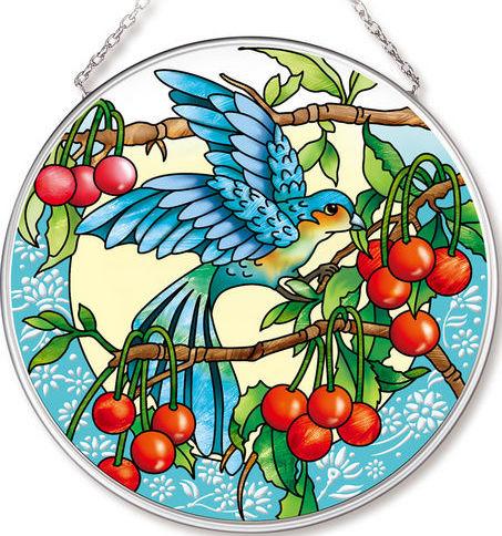 Amia 42538 Orchard Parrot Medium Circle Suncatcher
