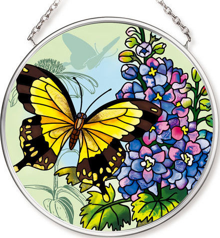 Amia 42542 Butterfly Garden in Bloom Small Circle Suncatcher