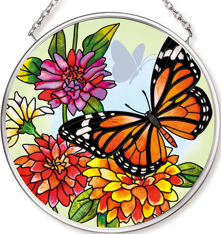 Amia 42544 Butterfly Garden in Bloom Small Circle Suncatcher