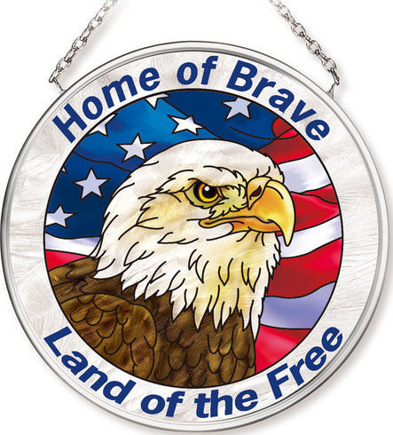 Amia 42547 Patriotic Eagle Small Circle Suncatcher