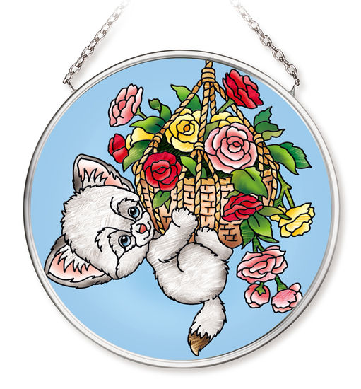 Amia 42549 Hang in There Small Circle Suncatcher