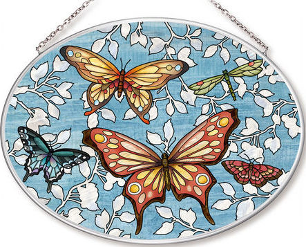 Amia 42566 Mariposa Butterflies Medium Oval Suncatcher