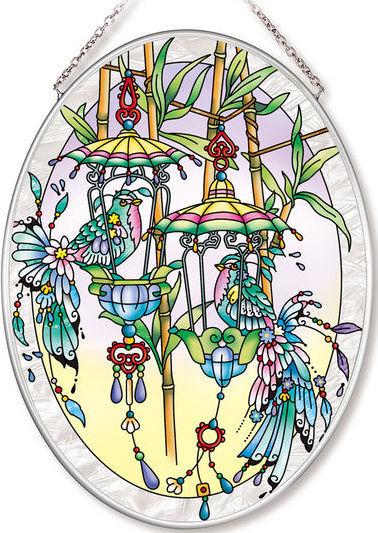 Amia 42567 Exotic Birdhouses Medium Oval Suncatcher