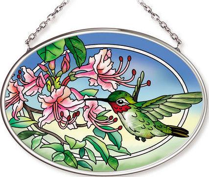 Amia 42569 Pretty in Pink Small Oval Suncatcher