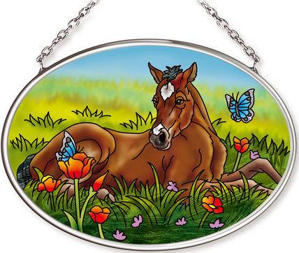 Amia 42572 Spring Foal Small Oval Suncatcher