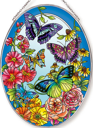 Amia 42604 Garden Fashion Show Large Oval Suncatcher