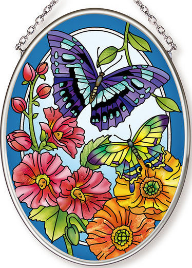 Amia 42606 Garden Fashion Show Small Oval Suncatcher