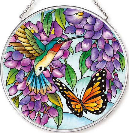 Amia 42617 Wistful Wisteria Playmates Medium Circle Suncatcher