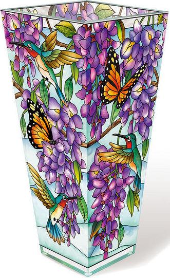 Amia 42620 Wistful Wisteria Playmates Vase