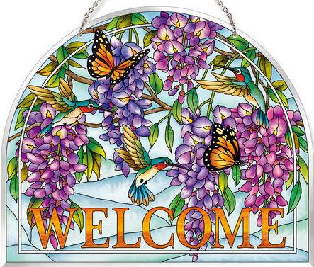 Amia 42626 Wistful Wisteria Playmates Welcome Panel