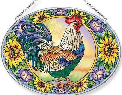 Amia 42656 Country Charm Large Oval Suncatcher