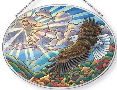 Amia 42657 Freedom Medium Oval Suncatcher
