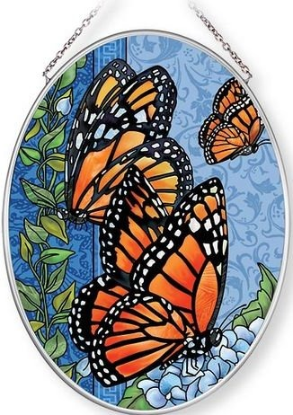 Amia 42675 Majestic Monarch Medium Oval Suncatcher