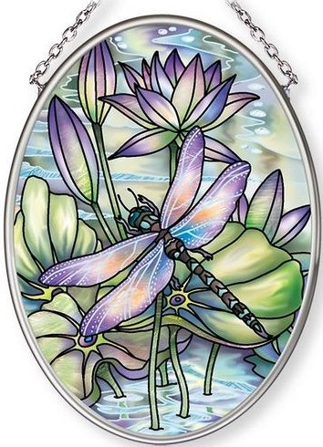 Amia 42680 Amethyst Sunrise Small Oval Suncatcher