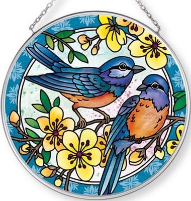 Amia 42704 Blue Bird Medium Circle Suncatcher