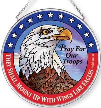 Amia 42705 Pray For Our Troops Medium Circle Suncatcher