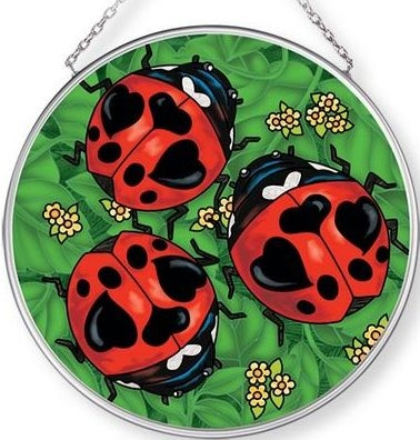 Amia 42706 Lady Love Bugs Medium Circle Suncatcher