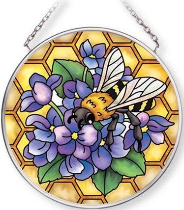 Amia 42711 Honeycomb Bee Small Circle Suncatcher