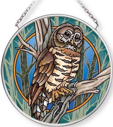 Amia 42713 Owl Small Circle Suncatcher
