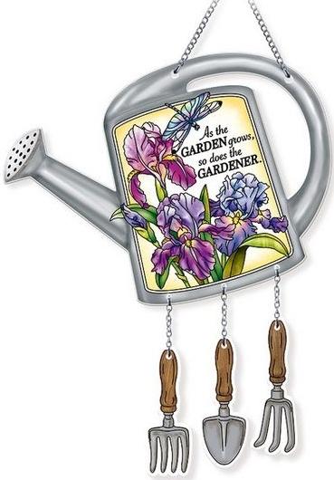 Amia 42731 Gardener Watering Can Suncatcher