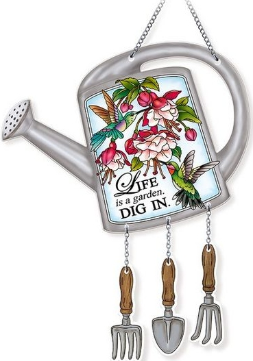 Amia 42733N Dig It Watering Can Suncatcher