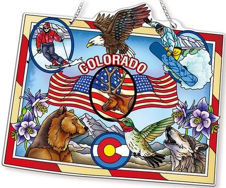 Amia 42741 Colorado Map Suncatcher