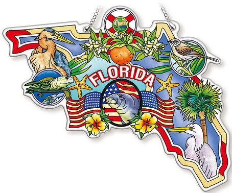 Amia 42743 Florida Map Suncatcher