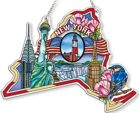 Amia 42746 New York Map Suncatcher