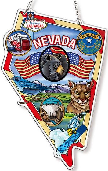Amia 42747 Nevada Map Suncatcher