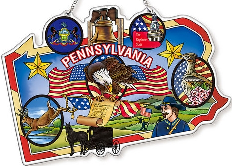 Amia 42748 Pennsylvania Map Suncatcher