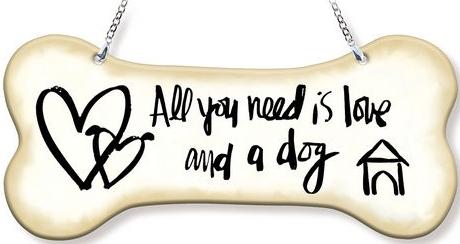 Amia 42754 All You Need Is Love Dogbone Suncatcher