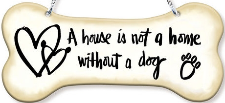 Amia 42756 A House Is Not A Home Dogbone Suncatcher