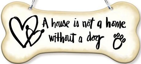 Amia 42756N A House Is Not A Home Dogbone Suncatcher