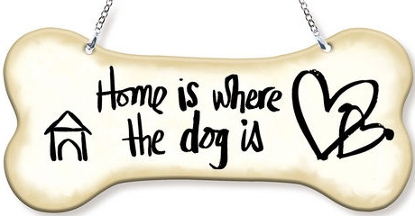 Amia 42757 Home Is Where The Dog Is Dogbone Suncatcher