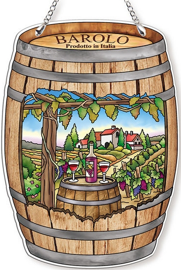 Amia 42766 Italian Vineyard Wine Barrel Suncatcher