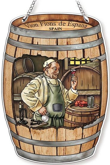 Amia 42767 The Wine Maker Wine Barrel Suncatcher