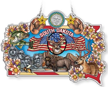 Amia 42768N South Dakota Map Suncatcher
