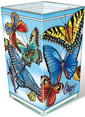 Amia 42778 Blue Skies Rectangular Vase Votive Holder