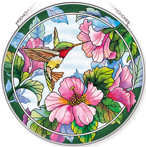 Amia 42785N Pretty in Pink Large Circle Suncatcher