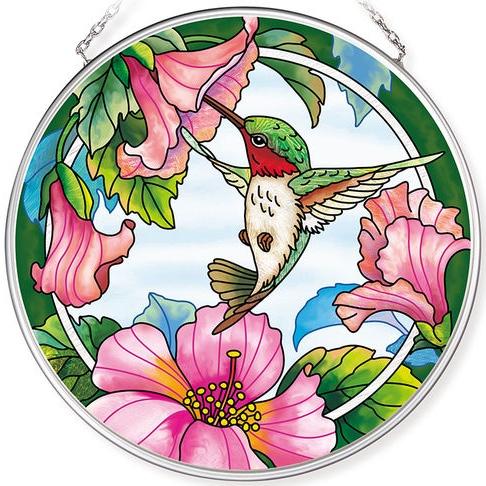 Amia 42786 Pretty in Pink Medium Circle Suncatcher