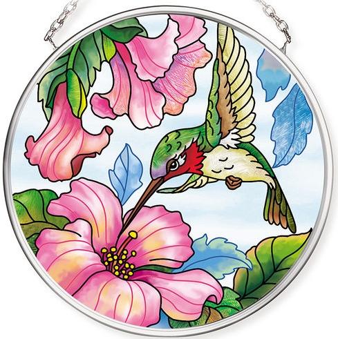 Amia 42787 Pretty in Pink Small Circle Suncatcher