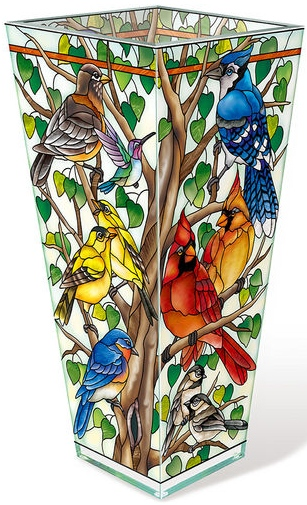 Amia 42803N Wild Birds Co-op Vase